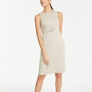 NWT Ann Taylor  Cotton Sateen Knotted Sheath Dress